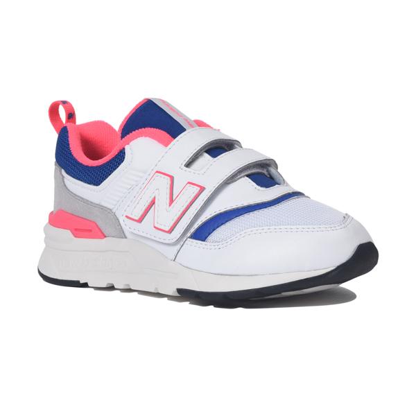 【new balance】PZ997H-AJホワイト/ブルー【通園】【子供靴】【ローカット】【ハーフサイズ】【PZ997HEA】【キッズ専用ラスト】