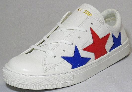 【CONVERSE】オールスター クップ トリオスター OX ホワイト/トリコ【婦人靴】【ALL STAR COUPE TRIOSTAR OX】
