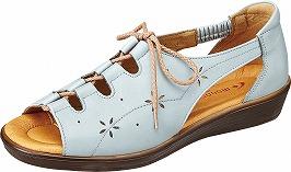 【SPORTH】スポルス5941ライトブルー【婦人靴】【サンダル】【天然皮革】【衝撃吸収】【ベステック】【軽量設計】【国産】