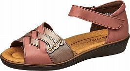 【SPORTH】スポルス5942ピンクC【婦人靴】【サンダル】【天然皮革】【衝撃吸収】【ベステック】【軽量設計】【国産】