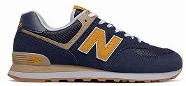 ☆【newbalance】ML574-ネイビー/イエローSPF-D【紳士靴】【ランニングスタイル】【ENCAP】【VINTAGE】