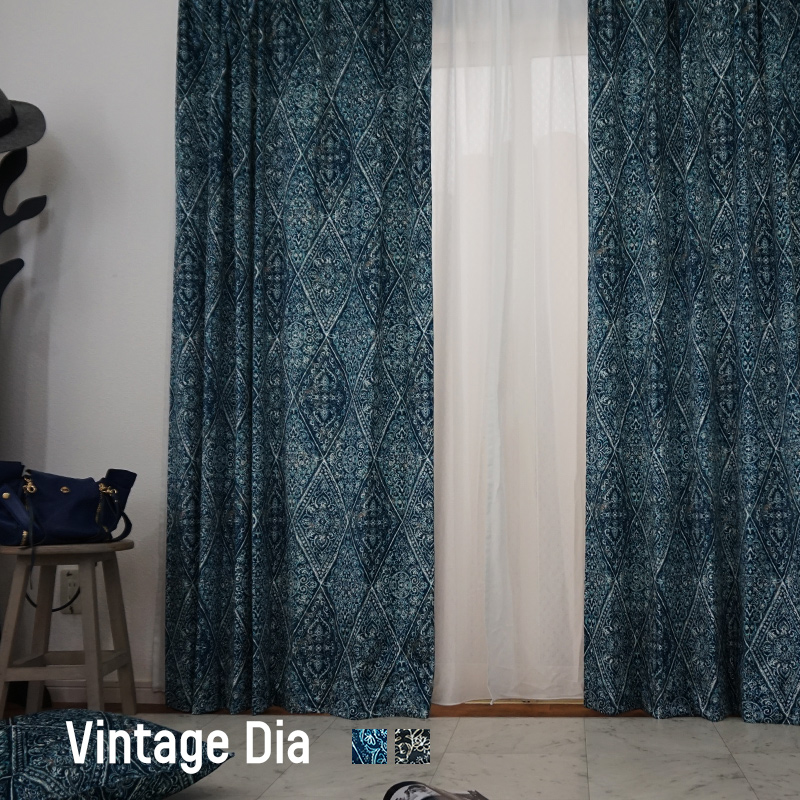 \11%OFFクーポン×3/1限定/カーテン オーダー ベロア ベルベット /●ヴィンテージダイヤ/【VH905】幅101~150×丈151~200cm[1枚][冷暖房効率 洗える オリジナルデザイン] 日本製 OKC