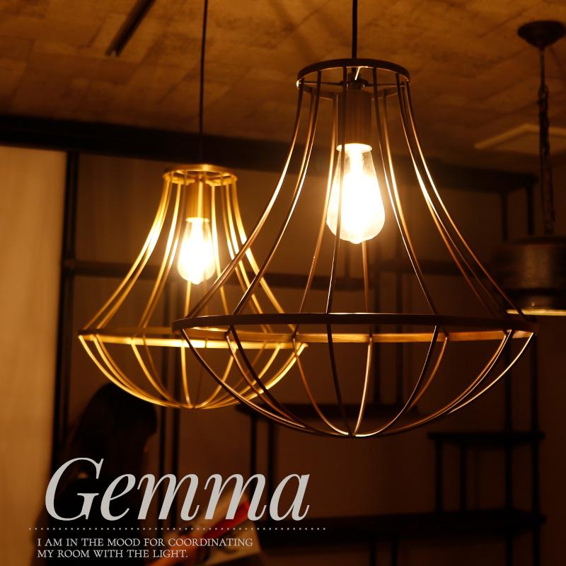 [1000円OFFクーポン配布中×マラソン]照明 つりさげ Gemma ジェンマ LED熱球付き日本製 アンティークゴールド ブラウン
