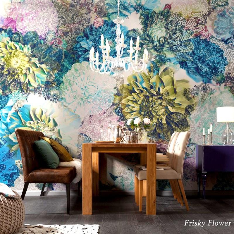 壁紙 インポート壁紙 輸入壁紙 クロス のりなし のり付 紙 花柄 オシャレ ドイツ製[Frisky Flower]8-941 []