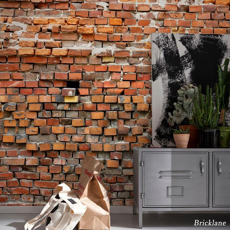 壁紙 のりなし おしゃれ クロス 輸入壁紙 不織布 フリース はがせる 店舗 内装 ドイツ製 北欧 景色 風景 レンガ 工場 ブルックリン 石目 [Bricklane/ブリックレーン]XXL4-025