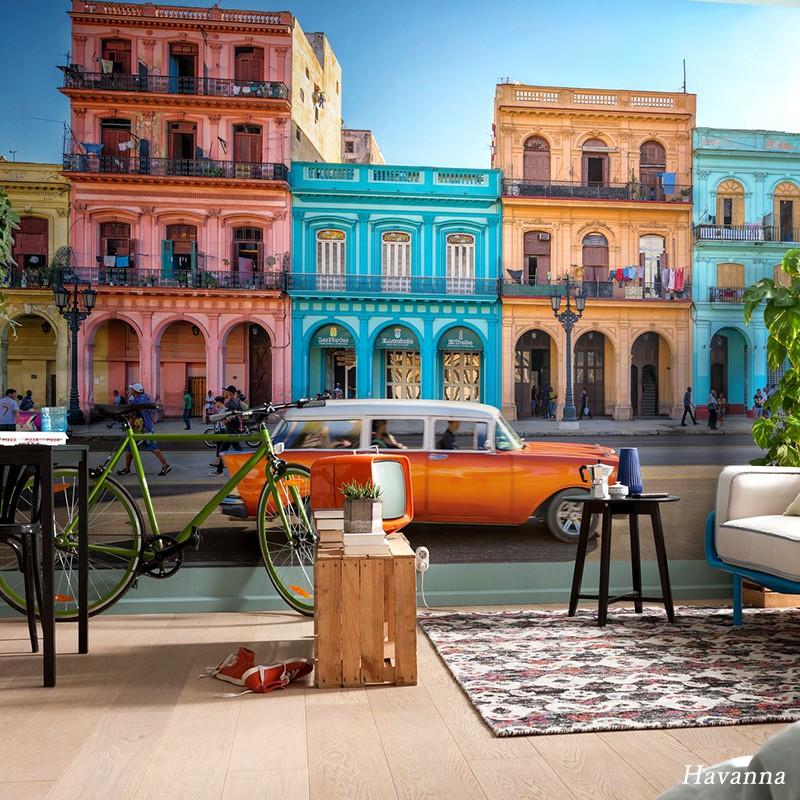 壁紙 のりなし おしゃれ クロス 輸入壁紙 不織布 フリース はがせる 店舗 内装 ドイツ製 景色 風景[Havanna/ハバナ]XXL4-042