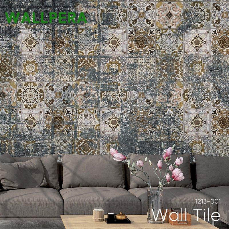 [1000円クーポン×マラソン]壁紙 クロス 輸入壁紙 不織布 WALLPERA [1213-001 Wall Tile] ウォールタイル 《即納可》