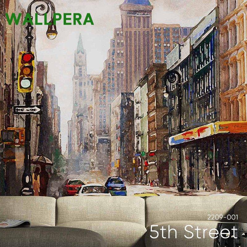 [1000円OFFクーポン配布中×マラソン]壁紙 クロス 輸入壁紙 おしゃれ フリース WALLPERA 北欧 2209-001 5th Street フィフスストリート