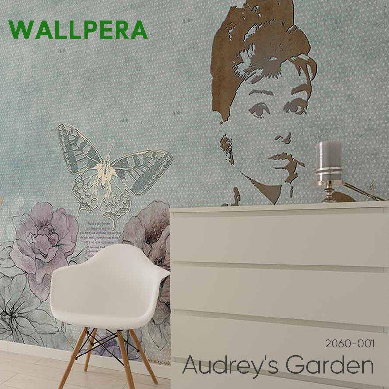 壁紙 クロス 輸入壁紙 おしゃれ フリース WALLPERA 花柄 2060-001 Audrey's Garden オードリーズガーデン