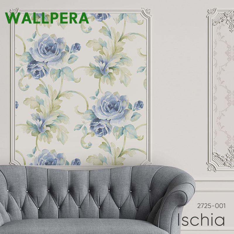 壁紙 クロス 輸入壁紙 おしゃれ フリース WALLPERA 花柄 2725-001 Ischia イスキア