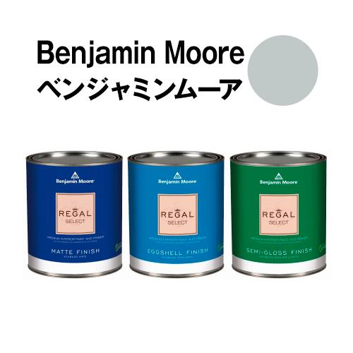 安全な水性塗料 ペンキ におわず 70%OFFアウトレット ムラが出来ないのでDIY セルフリフォームに最適です ベンジャミンムーアペイント 1598 3.8L 約20平米壁紙の上に塗れる水性ペンキ ガロン缶 lake 予約 silver 水性塗料