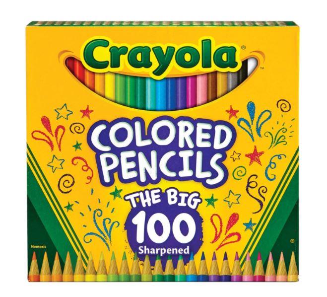 年末年始大決算 Walmart ウォルマート アメリカ 米国ウォルマート 米国最大規模スーパーマーケットWalmart市場店取扱い希望商品のご意見受付中 送料無料 100本セット Crayola Colored お絵描き Pencil カラーペンシル カラフル 色鉛筆 特価 図工 Set クレヨラ 海外直送