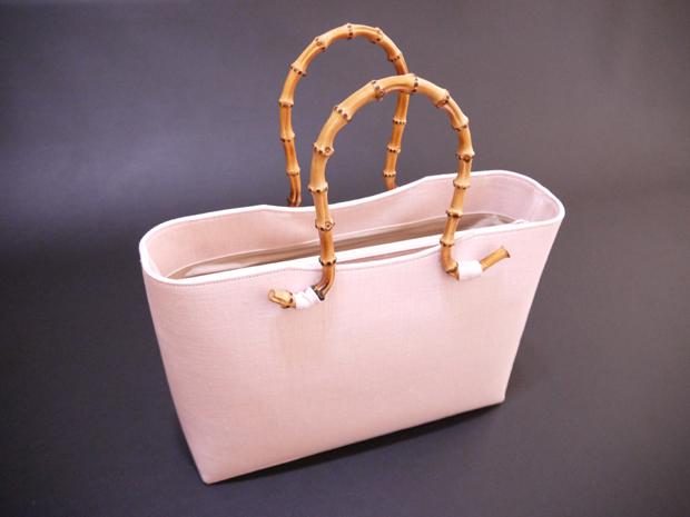 清涼感あふれる 薄ピンク 麻和装バッグ 夏バッグ かばん 鞄【送料無料&代引料無料】