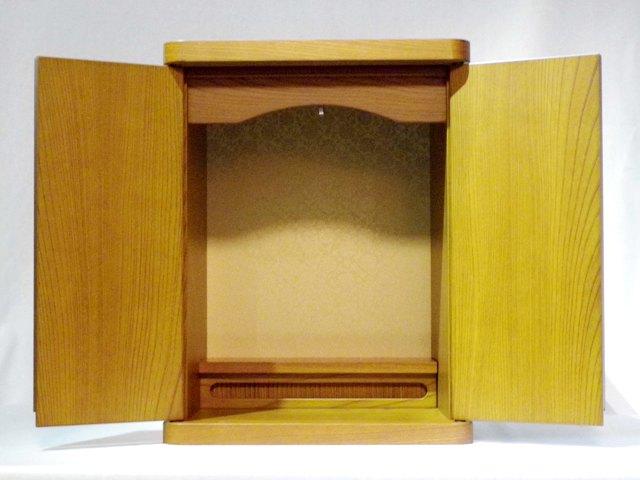 ペット仏具 ペット用仏壇骨壷カバーのまま納められるメモリアルペット仏壇色:ナチュラル 欅日本製