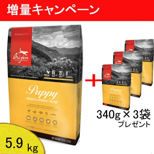 (増量キャンペーン 8/1~8/31まで) 【あす楽対応】New オリジン パピー (5.9kg) +(340g×3) 【正規品】