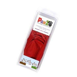 【ゆうメール対応80円】PawZ ドッグラバーブーツ S レッド 12枚入