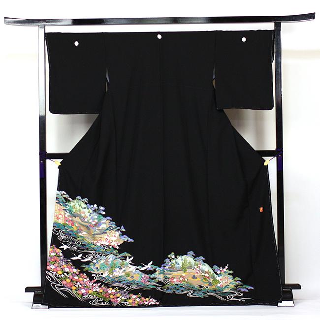 【レンタル】 留袖 レンタル 着物 黒留 加賀調・京友禅 黒留袖 19点フルコーディネートセット 結婚式 rental とめそで kimono きもの〔消費税込み〕