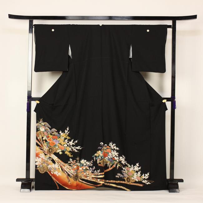 【レンタル】 留袖 レンタル 往復送料無料 着物 黒留 京友禅 黒留袖 19点フルコーディネートセット 結婚式 rental とめそで kimono きもの