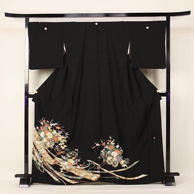 【レンタル】 留袖 レンタル 往復送料無料 着物 黒留 作家物 京友禅 黒留袖 19点フルコーディネートセット 結婚式 rental とめそで kimono きもの