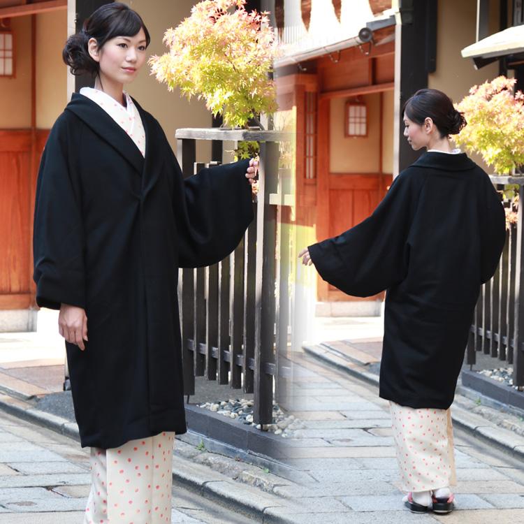 着物 コート カシミヤ&ウールへちま衿着物コート 着物 和装 コート 女性