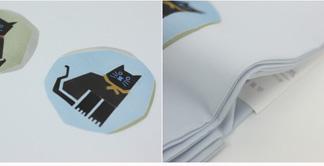 Wash and cut up Shiose tinted wind 8-Nagoya Nagoya cat pattern with an []