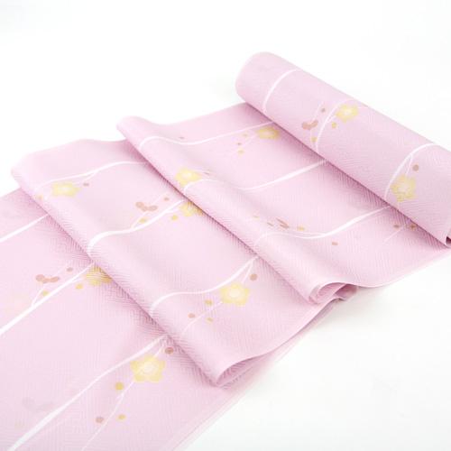 「高級正絹 御長襦袢地 淡い桃色 小梅の花」 絹100% 未仕立て