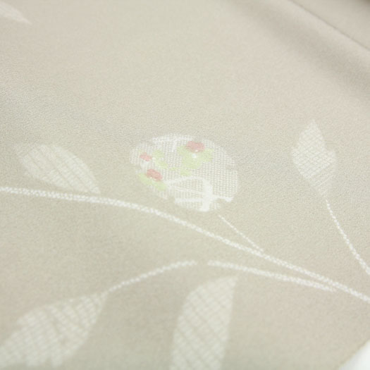Kimono East Les Shilluk Komon cloth washable washable fabric beige in floral print kimono tailoring up (胴裏, 八掛, tailoring, with