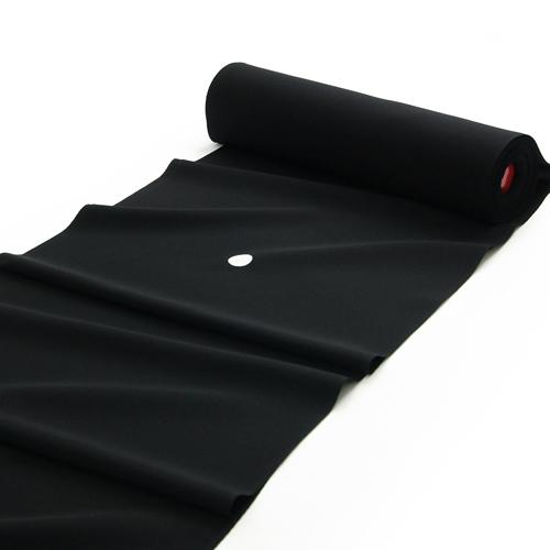 皇室献上織工場謹製 小熊機業場 「三越ちりめん 紅紫重ね染 王朝黒」 正絹黒紋付地 反物