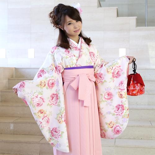 【レンタル】 LIZ LISA(リズリサ)卒業式 袴 レンタル 女 袴セット 卒業式袴セット2尺袖着物&袴 フルセットレンタル 安い