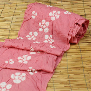 Arimatsu narumi shibori pinch yukata kimono pink in Camellia «first class Japanese dressmaking technicians domestic sewing and tailoring & band presents: yukata kimono tradition craft tannmono