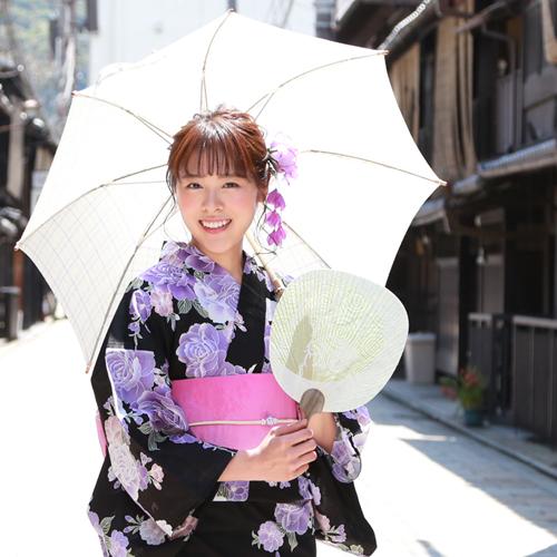 日本製 麻100%日傘 選べる4柄 日傘 近江の麻 おしゃれ かわいい 長傘 軽量 夏 浴衣 ひがさ パラソル レディース 白 水色 緑 黄緑 ボーダー ストライプ 縞 チェック