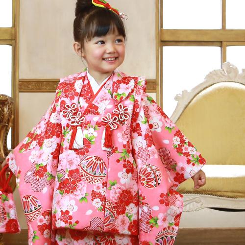 68def831f881a 七五三 着物 3歳 セット 女の子 選べる9柄 被布セット 販売 着物セット 七五三 3歳用 正月 着物 ひな祭り 衣装 着物 モダン