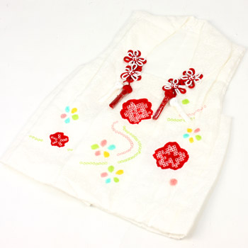 Kabukichō ringtone of 3-year-old 3-year-old Silk 被布 coat ((white) water and cherry) 753 kimono fit!