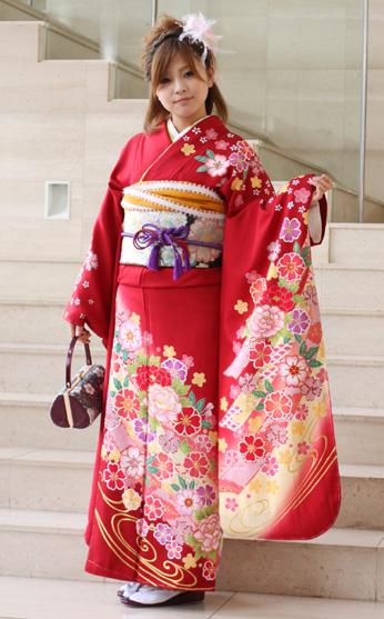 Long-sleeved kimono rental ceremony set silk capital from Yuzen coming of age ceremony for 20 points set up wedding or formal kimono kimono galumnidae trusting rental renntaru comingof inbetween seizing ski bag bag
