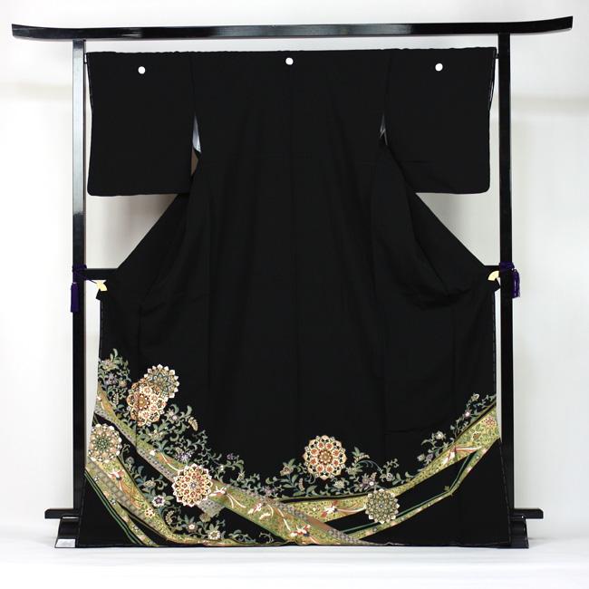【レンタル】 留袖 レンタル 金彩京友禅黒留袖 19点フルコーディネートセット 結婚式