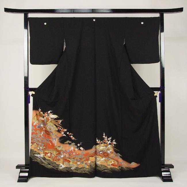 【レンタル】 留袖 レンタル 着物 黒留 黒留袖 19点フルコーディネートセット 結婚式 rental とめそで kimono きもの〔消費税込み〕