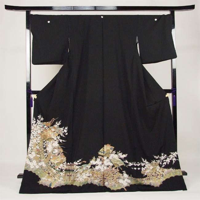 【レンタル】 黒留袖 レンタル 着物 黒留 ゆとりサイズ 3L~4LL対応 黒留袖 19点フルコーディネートセット 結婚式〔消費税込み〕
