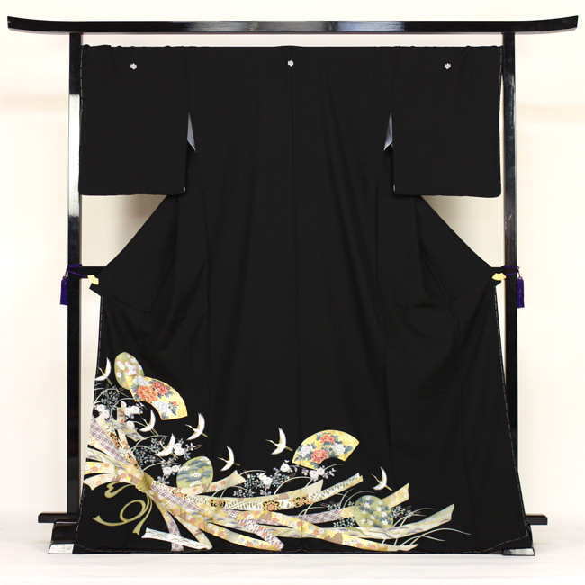 【レンタル】 留袖 レンタル 往復送料無料 着物 黒留 黒留袖 19点フルコーディネートセット 結婚式