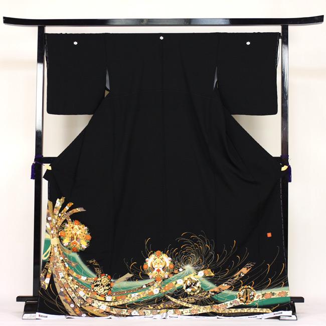【レンタル】 留袖 レンタル 着物 黒留 山本寛斎作 黒留袖 19点フルコーディネートセット 結婚式