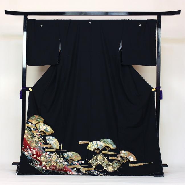 【レンタル】 留袖 レンタル 往復送料無料 着物 黒留 ゆとりサイズ 3L~4LL対応 黒留袖 19点フルコーディネートセット 結婚式 rental とめそで kimono きもの〔消費税込み〕