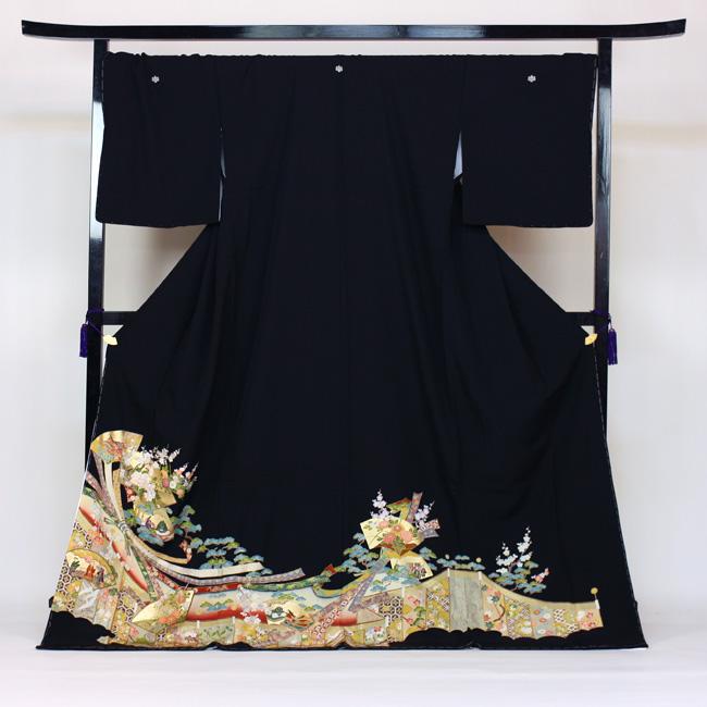 【レンタル】 留袖 レンタル ゆとりサイズ 3L~4LL対応 黒留袖19点フルコーディネートセット 結婚式 15号~17号対応