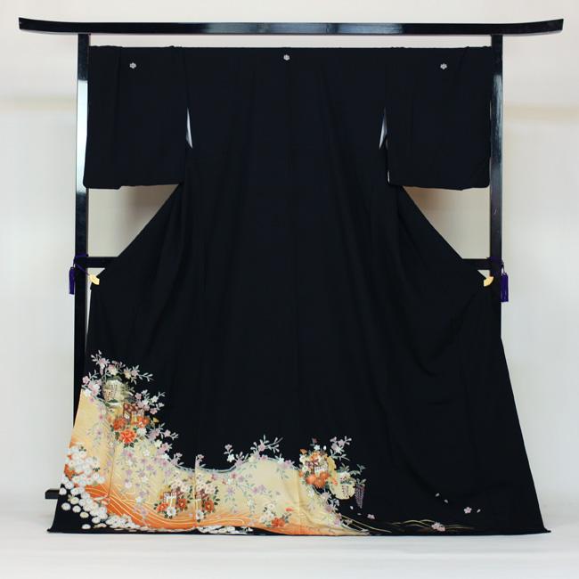 【レンタル】 留袖 レンタル 往復送料無料 着物 黒留 ゆとりサイズ 3L~4LL対応 黒留袖 19点フルコーディネートセット 結婚式 15号~17号対応 rental とめそで kimono きもの
