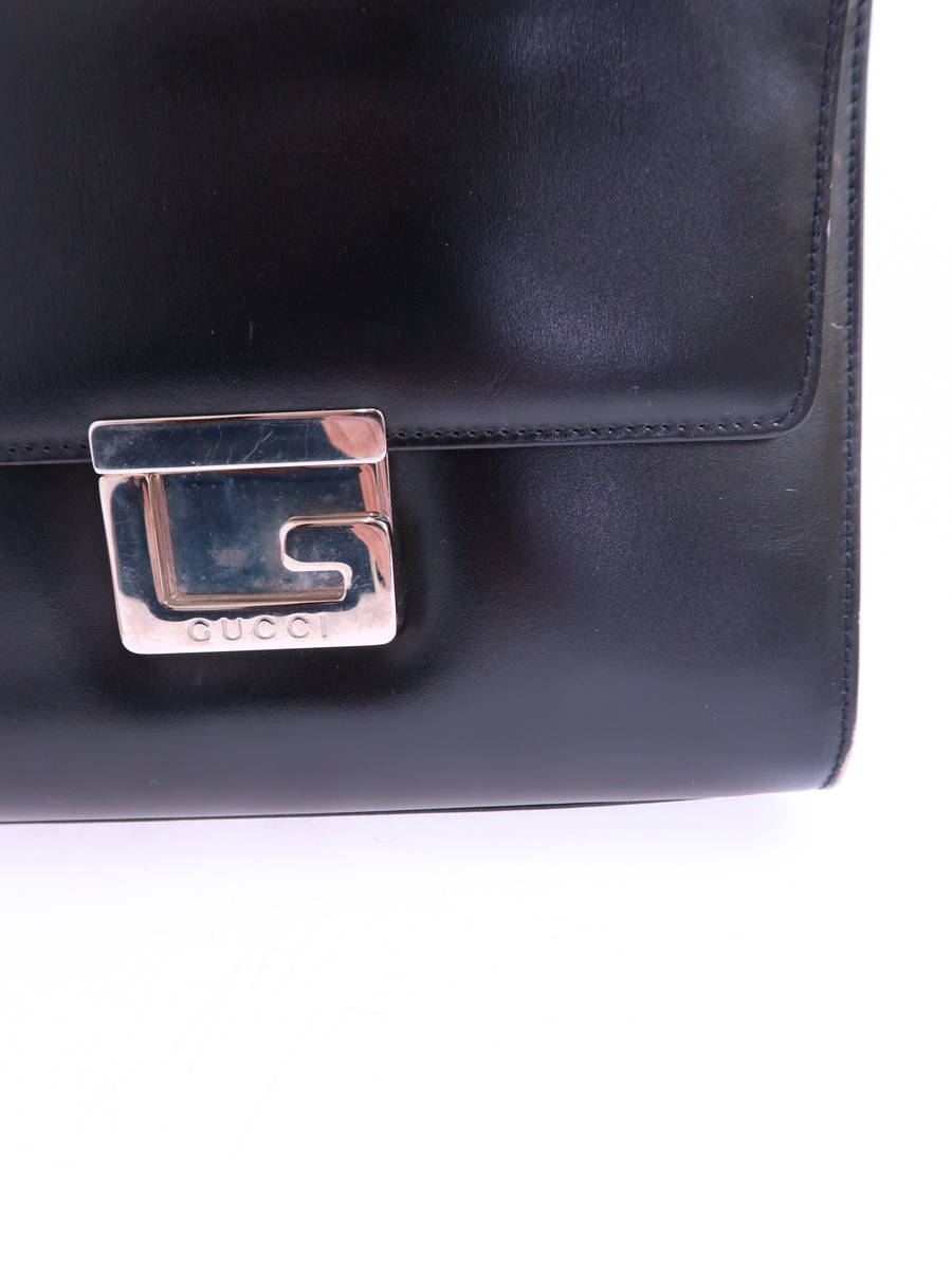 24506c78167 GUCCI (Gucci) patent leather shoulder bag 007-2023-0267 black Lady s B rank