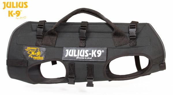 キャリアハーネス 降下用ハーネス 犬用 Julius-K9 ユリウスケーナイン Rappelling & carrying harness 中型犬 大型犬 Mサイズ ハーネス 送料無料 カラー:ブラック