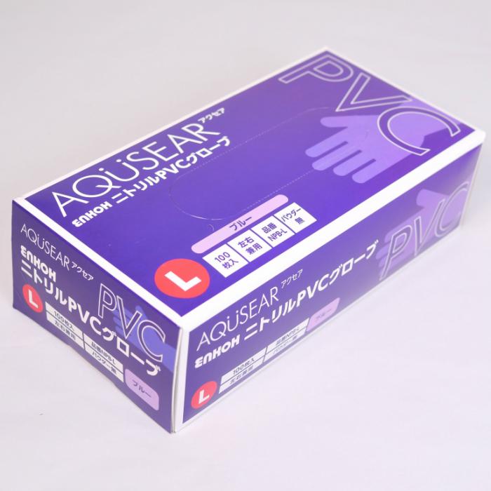 ガーデニングや感染予防などに プラスチックグローブ パウダーフリー ブルー L 25%OFF NPB-L 使い捨て手袋 一般作業に 100枚 1箱 あす楽 左右兼用タイプ介護に 現金特価