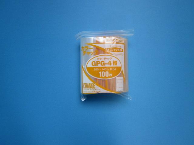 ユニパック カラーチャック GPG-4 1ケース3,000枚(100枚×30袋)