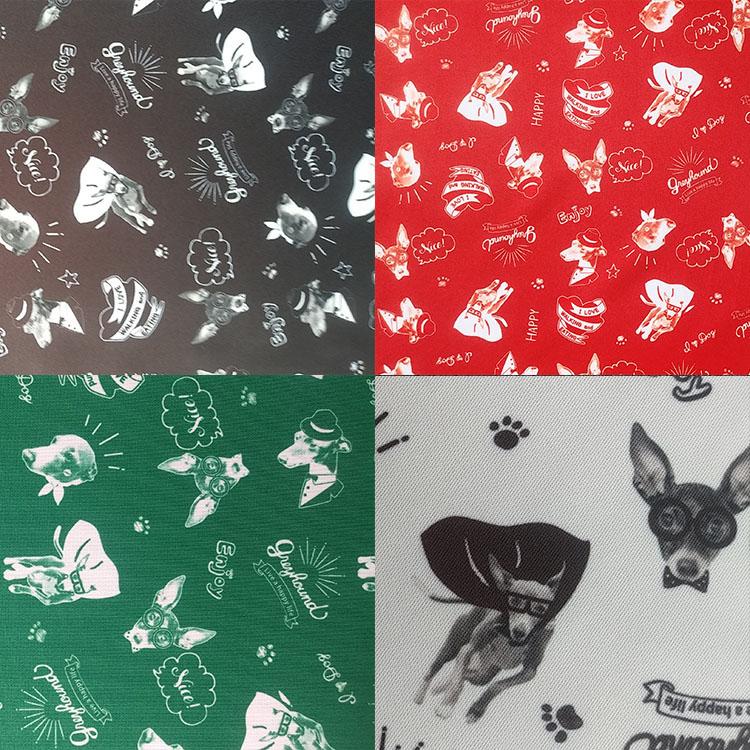 KDイタグレちゃんいっぱい 150cm巾×50cm単位 日本製 生地 夏のお出かけに最適 夏服 贈答品 人気急上昇 布
