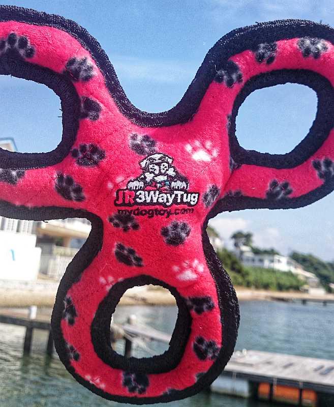 スリーリング(レッド)水に浮く頑丈なタフィーTuffy 丈夫 大型犬 ペット 中型犬用の最強のおもちゃ
