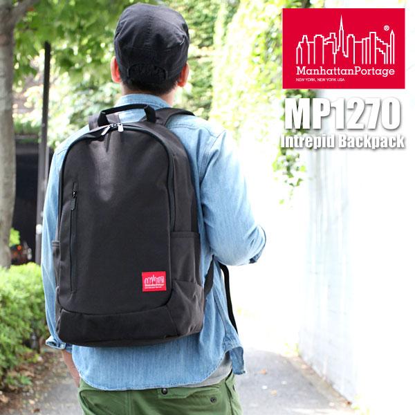 【正規取扱店】Manhattan Portage Intrepid Backpack[ブラック]マンハッタンポーテージ イントレピッド バックパック メンズ レディース【鞄】_11407E(wannado)