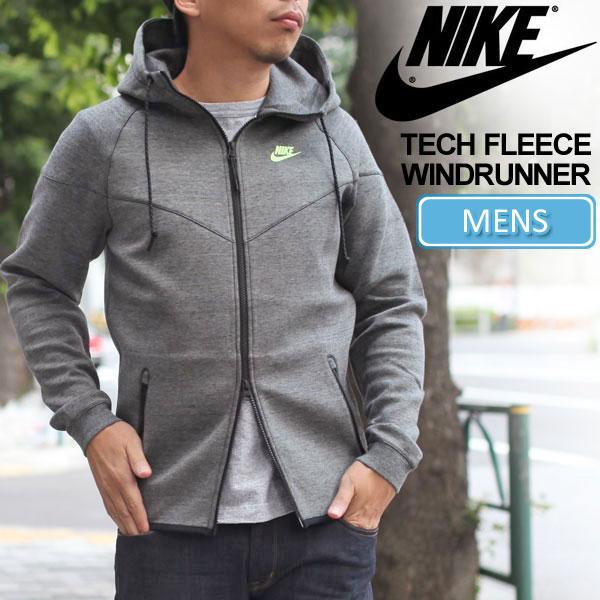 ... winter • NIKE TECH FLEECE 1.0 WIND RUNNER [grey/black/Heather/volts]  (545279)-Nike Tech fleece Windrunner men's (men's) _ 11509 E (wannado)  05P23Sep15